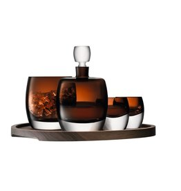 L.S.A. Whisky Club Whisky Set met Dienblad