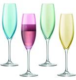 L.S.A. Polka Champagne Flute 225 ml Set van 4 Stuks