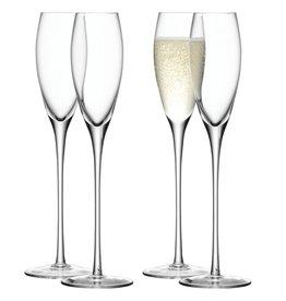 L.S.A. Wine Drinken Champagneflutes 200 ml Set van 4 Stuks