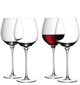 L.S.A. Wine Rode Wijnglas 750 ml Set van 4 Stuks