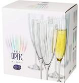 Crystalex Kate optic  blanc 6 Kristallen Champagneglazen  220ml