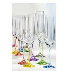 Crystalex Rainbow Champagneglazen 190ml