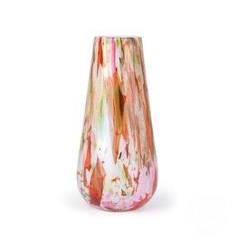 Fidrio Vaas Gloriosa Mixed Colours 40cm hoog