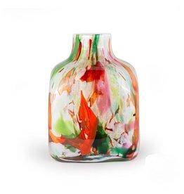 Fidrio Vaas Cube Mixed Colours 23cm Hoog