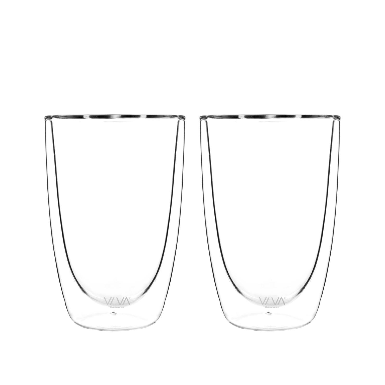Viva Glas Dubbelwandig 390 ml Set van 2 Stuks