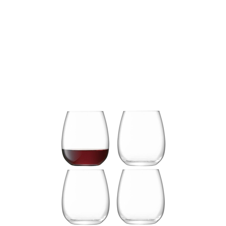L.S.A. Borough Glas Wijn 455 ml Set van 4 Stuks