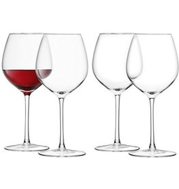 L.S.A. Wine Wijnglas Rood 400 ml Set van 4 Stuks