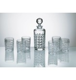 Crystalite Whisky set Diamand 7 delig
