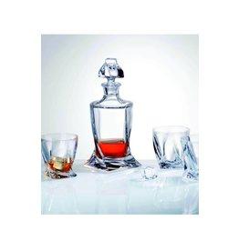 Crystalex Quadro whisky set 3 delig