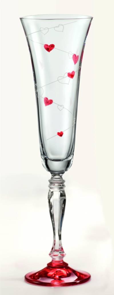 Crystalex Love champagneglazen 180ml