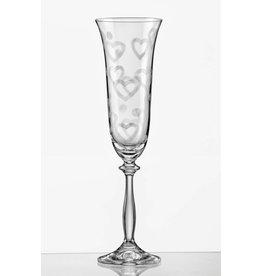 Crystalex Love white champagneglazen 180ml