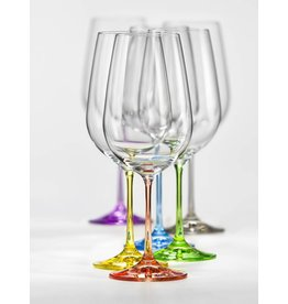 Crystalex Rainbow wijnglazen 550ml