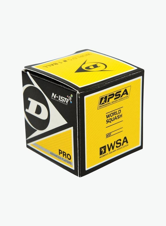 Dunlop Pro Squashball (doppelter gelber Punkt) – 12er Box
