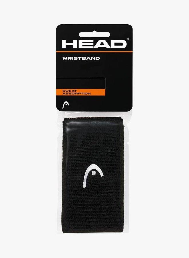"""Head Schweißband 5"""" - 2er Pack - Schwarz"""