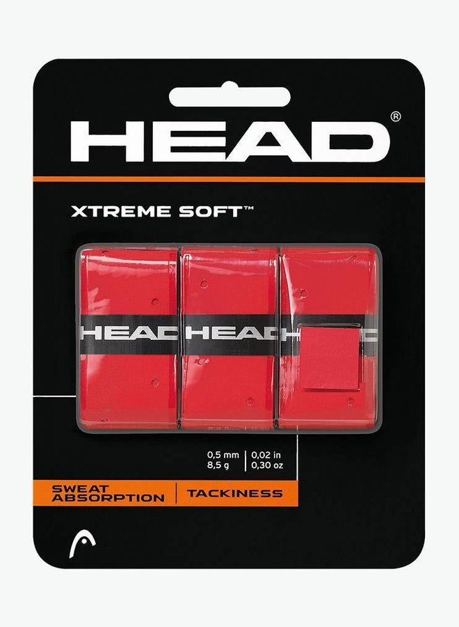 Head Xtremesoft Overgrip - 3er Pack - Rot