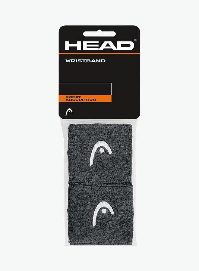 """Head Schweißband 2,5"""" - 2er Pack - Anthrazit"""
