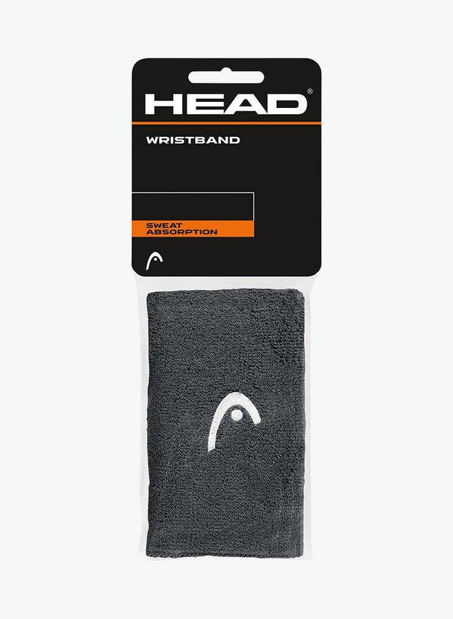 "Head Schweißband 5"" - 2er Pack - Anthrazit"