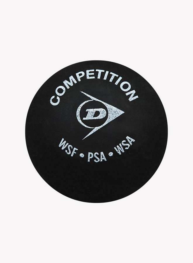 2 x Dunlop Competition Squashball (gelber Punkt) - 3er Pack