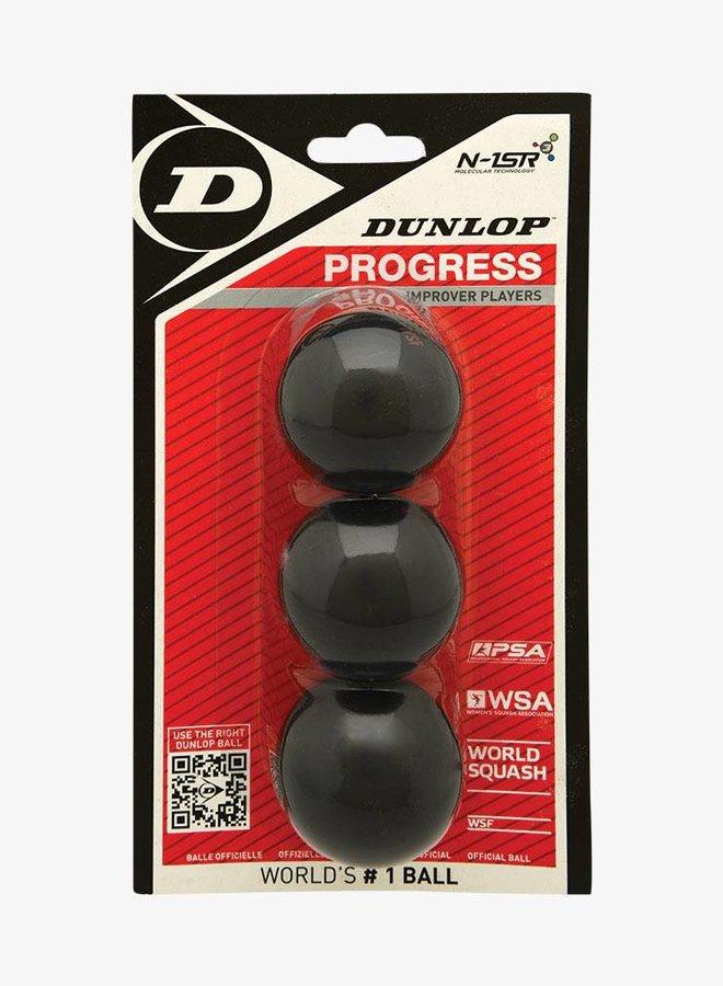 Dunlop Progress Squashball - 3er Pack