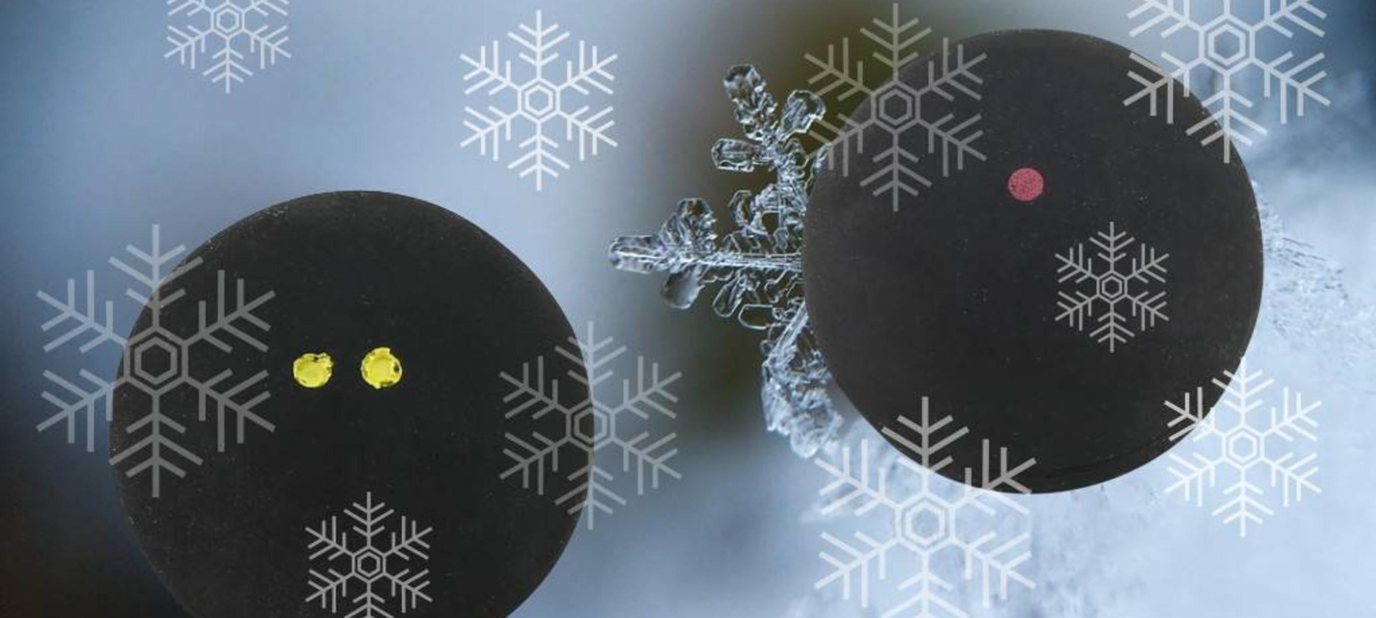 Der richtige Squashball für kalte Wintertage