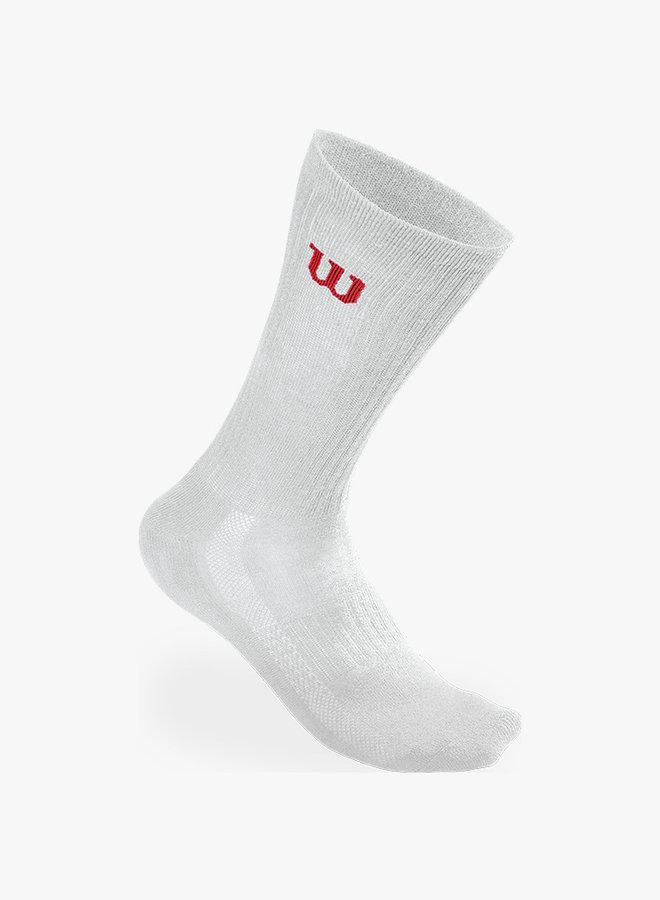 Wilson Herren Crew Socken - 3er Pack - Weiß