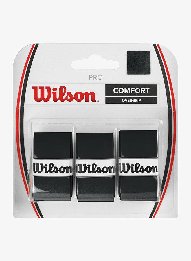 Wilson Pro Comfort Overgrip - 3er Pack - Schwarz