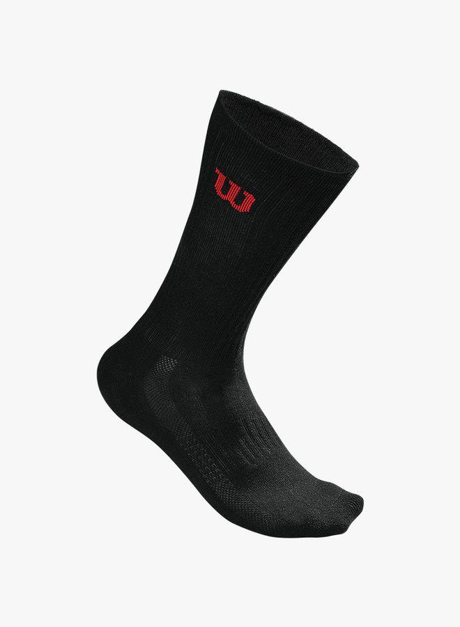 Wilson Herren Crew Socken - 3er Pack - Schwarz