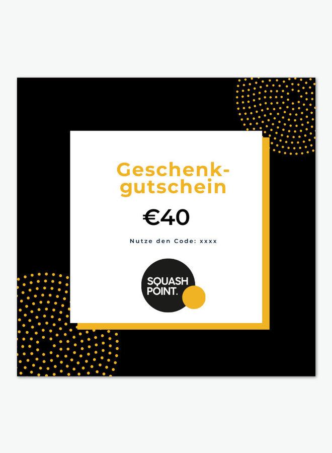 Geschenkgutschein €40