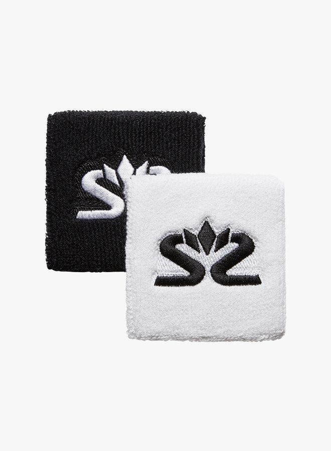 Salming Schweißband Short - 2er Pack - Weiß / Schwarz