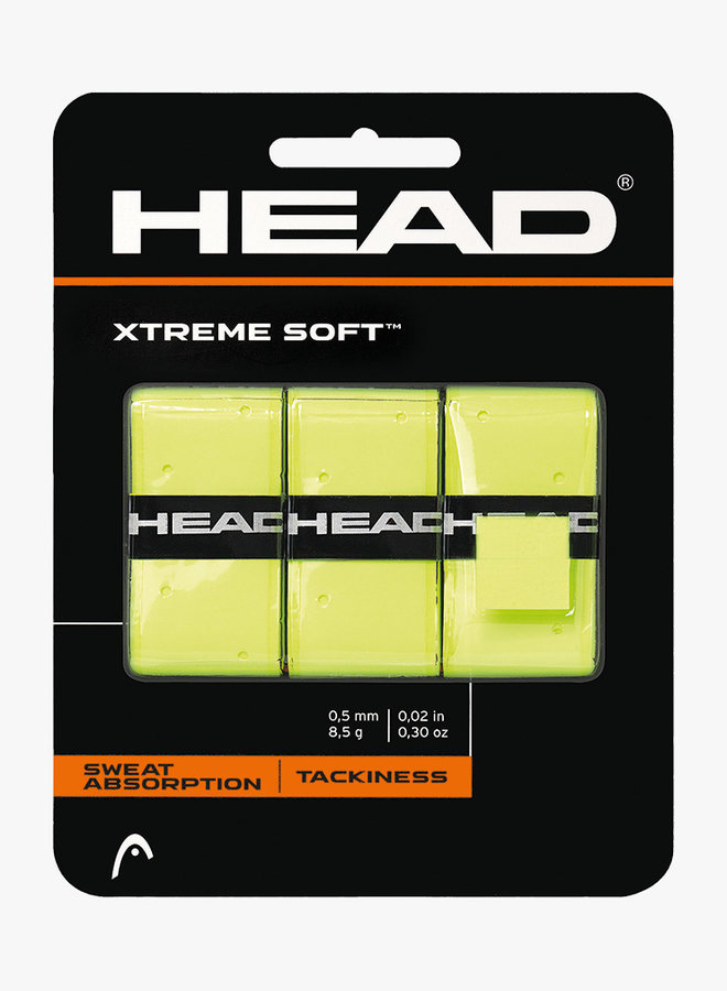 Head Xtremesoft Overgrip - 3er Pack - Gelb