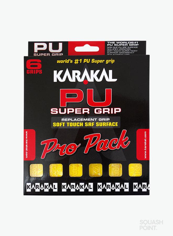 Karakal PU Super Grip Gelb Pro Pack - 6er Pack