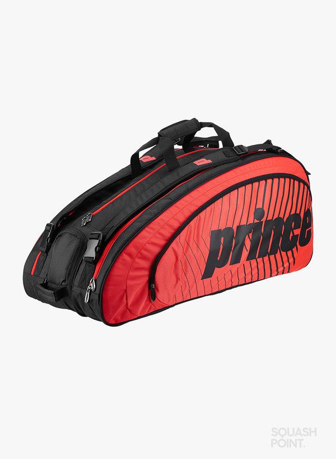Prince Tour Challenger 9 Pack Schlägertasche - Schwarz / Rot