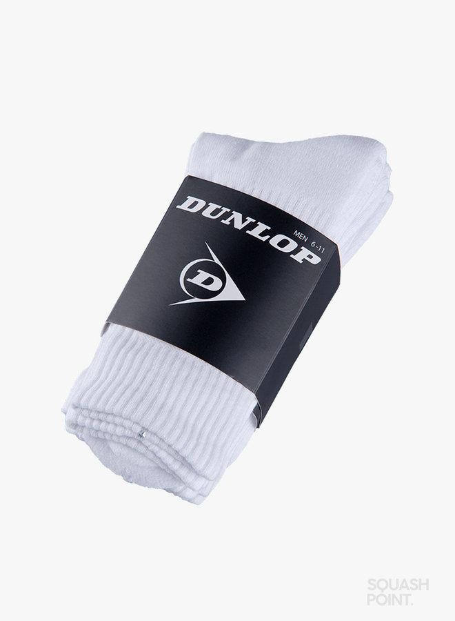 Dunlop Herren Indoor Crew Socken - 3er Pack - Weiß
