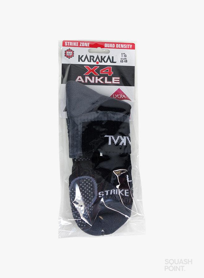 Karakal X4-Technical Ankle Socken - Schwarz