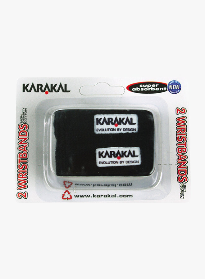 Karakal Schweißband X2 - 2er Pack - Schwarz
