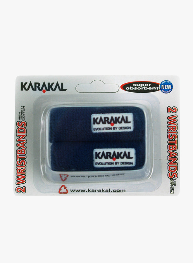 Karakal Schweißband X2 - 2er Pack - Dunkelblau