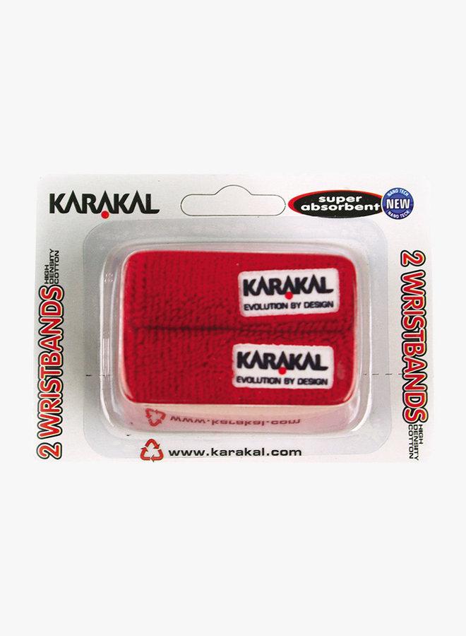 Karakal Schweißband X2 - 2er Pack - Rot