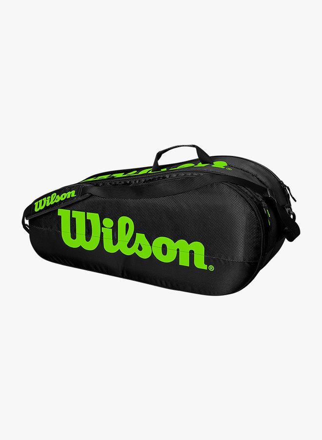 Wilson Team 2 Comp 6 Schlägertasche - Schwarz / Grün