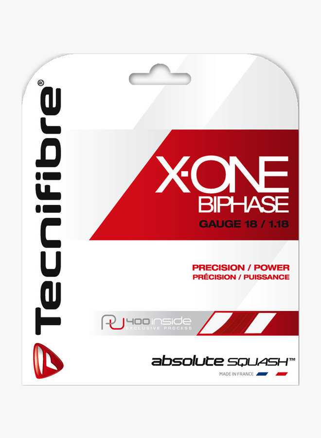 Tecnifibre X-One Biphase 1.18 Rot - Saitenset 9,7 m