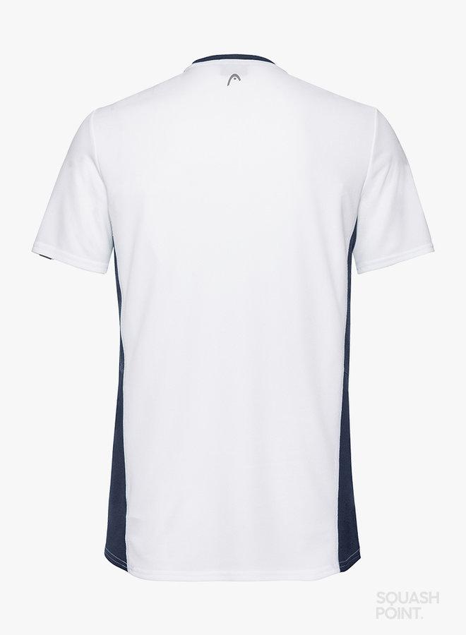 Head Club Tech T-Shirt - Weiß / Dunkelblau