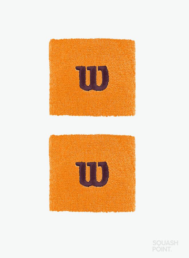 Wilson 'W' Schweißband - 2er Pack - Orange