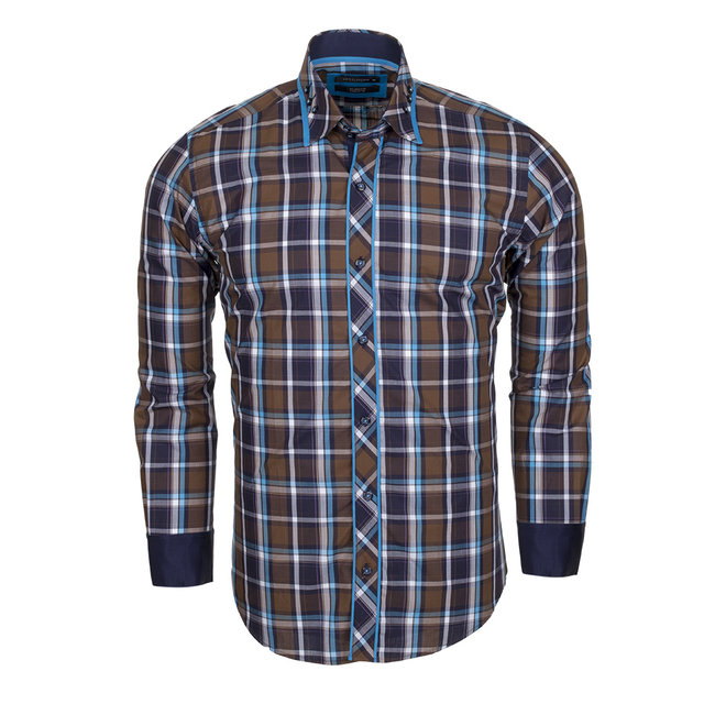 Checkhered Multicolor Cotton Long Sleeved Shirt SL 5403 COLOR A S