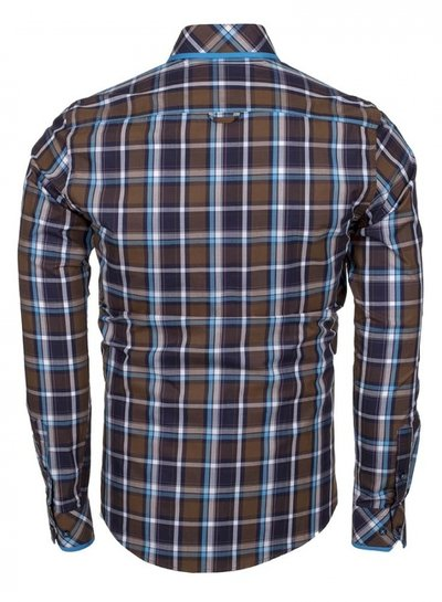 Makrom Checkhered Multicolor Cotton Long Sleeved Shirt SL 5403 COLOR A S