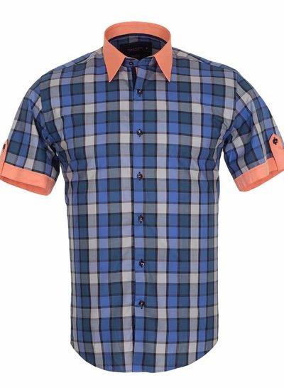 Makrom Checkhered Short Sleeved Shirt SS 186 COLOR C L