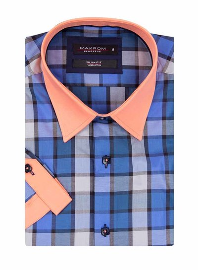 Checkhered Short Sleeved Shirt SS 186 COLOR C L