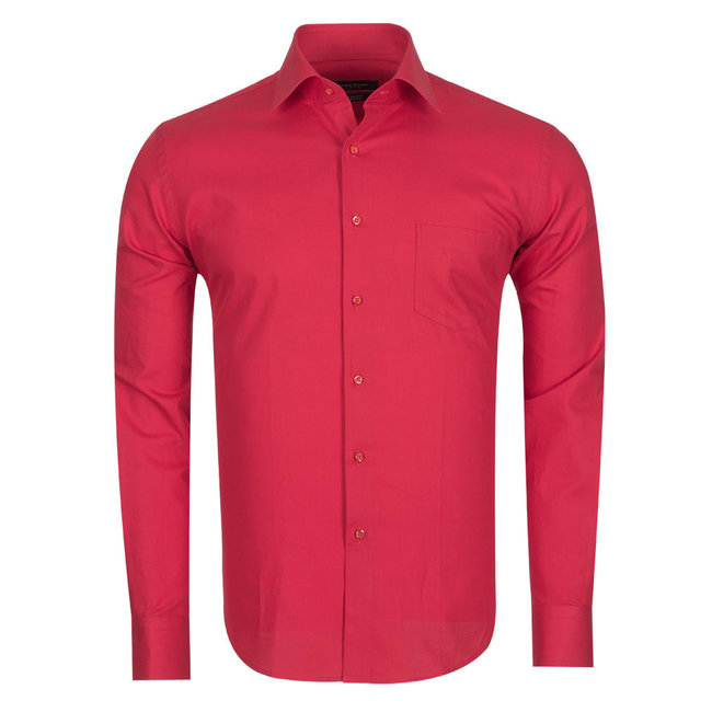 Plain Long Sleeved Colorful Shirt SL 5041 RED L