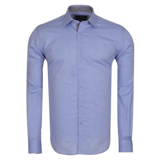 MAKROM Plain Long Sleeved Shirt SL 5589 BLUE L