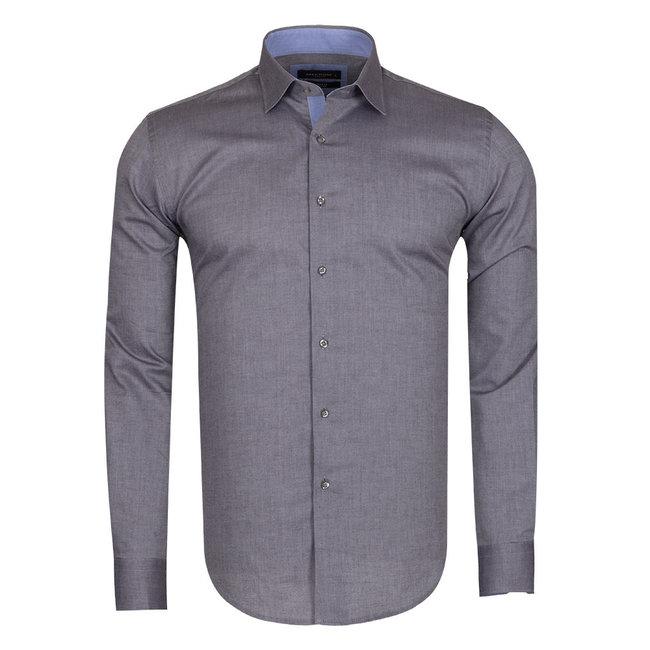 MAKROM Plain Long Sleeved Shirt SL 5589 BLACK L