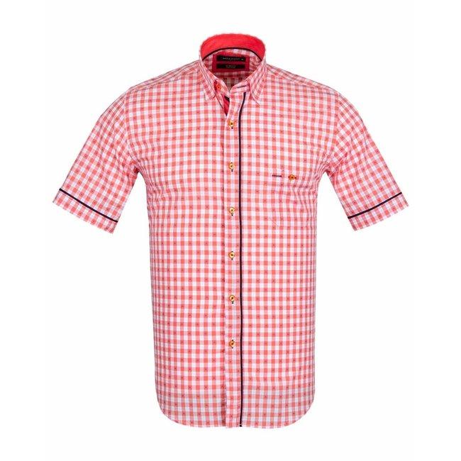 MAKROM Short Sleeved Checkhered Shirt SS 6049 ORANGE S