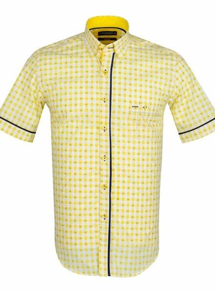 Makrom MAKROM Short Sleeved Checkhered Shirt SS 6049 YELLOW S
